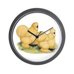 Buff Silkie Chickens Wall Clock