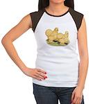 Buff Silkie Chickens Women's Cap Sleeve T-Shirt