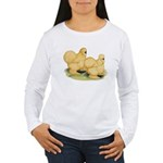 Buff Silkie Chickens Women's Long Sleeve T-Shirt