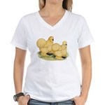 Buff Silkie Chickens Women's V-Neck T-Shirt