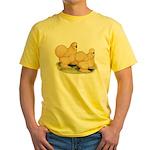 Buff Silkie Chickens Yellow T-Shirt