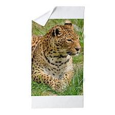 Cute Leopard skin Beach Towel