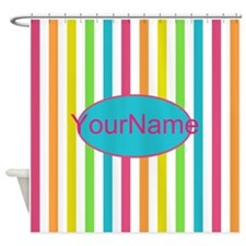 Colorful Multi Stripes Personalized Shower Curtain