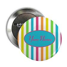 """Colorful Multi Stripes Personalized 2.25"""" Button"""