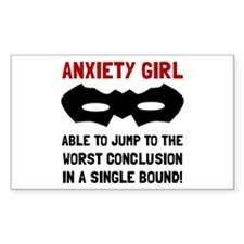 Anxiety Girl Decal
