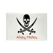 Ahoy, Matey (black/orange) Magnets