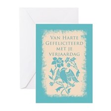 Flemish Belgian Birthday Greeting Cards (pk Of 10)