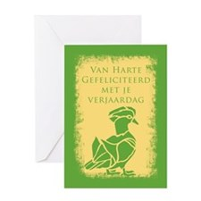 Flemish Belgian Birthday Card Greeting Cards