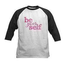 Be Yourself (pink grunge) Baseball Jersey