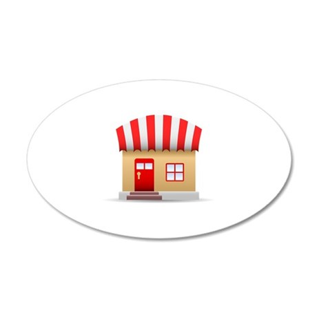 Small Shop Building Wall Decal