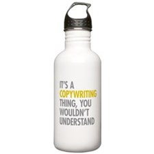 Its A Copywriting Thin Water Bottle