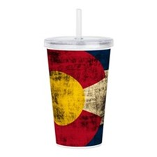 Vintage Grunge Colorado Flag Acrylic Double-wall T
