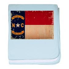 North Carolina State Flag VINTAGE baby blanket