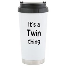 Cute Twin family Travel Mug