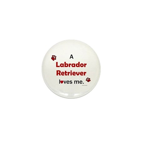 Labrador Retriever Loves Me Mini Button (10 pack)