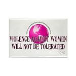 Stop Violence Against Women Rectangle Magnet (100