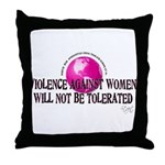 Stop Violence Against Women Throw Pillow