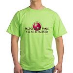 Stop Violence Against Women Green T-Shirt