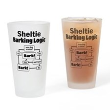 Sheltie Logic Drinking Glass
