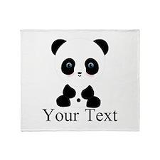 Personalizable Panda Bear Throw Blanket