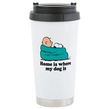 Charlie Brown: Home is Stainless Steel Travel Mug