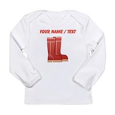 Custom Rain Boots Long Sleeve T-Shirt