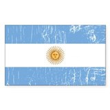 Vintage Argentina Rectangle Decal