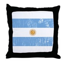 Vintage Argentina Throw Pillow