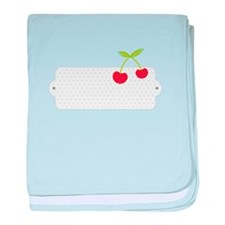Blank Cherry Label baby blanket