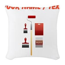 Custom Paint Set Woven Throw Pillow