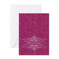 Pink Glitter Greeting Card