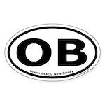 Ocean Beach, New Jersey Oval Sticker