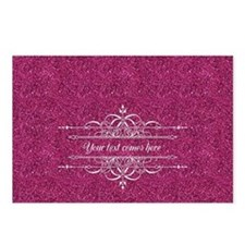 Pink Glitter Postcards (Package of 8)