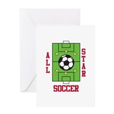 All Star Soccer Greeting Cards