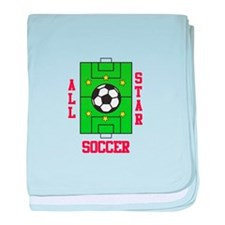 All Star Soccer baby blanket