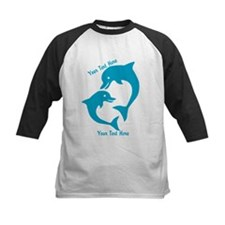 CUSTOM TEXT Cute Dolphins Baseball Jersey