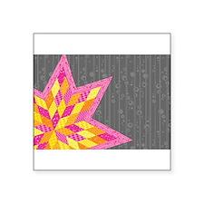 "Unique Sewing pattern Square Sticker 3"" x 3"""