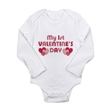 Baby's First Valentine Long Sleeve Infant Bodysuit