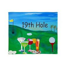 19th Hole Golf Bar Throw Blanket