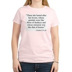 Ezekiel 23:20 Women's Pink T-Shirt