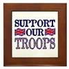 ...Support Our Troops U.K... Framed Tile