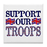 ...Support Our Troops U.K... Tile Coaster