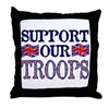 ...Support Our Troops U.K... Throw Pillow