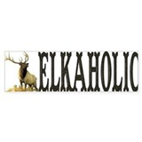Elkaholic Bumper stickers for Bumper Car Sticker
