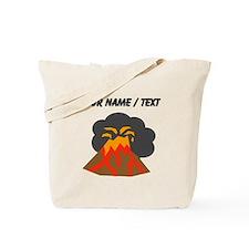 Custom Erupting Volcano Tote Bag