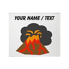 Custom Erupting Volcano Throw Blanket