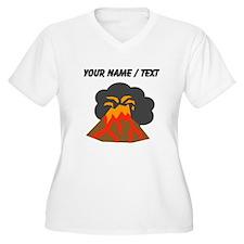 Custom Erupting Volcano Plus Size T-Shirt