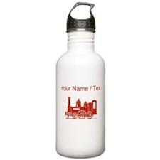 Custom Red Locomotive Water Bottle