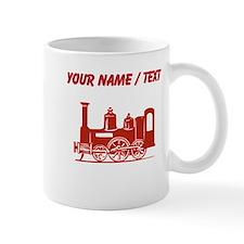 Custom Red Locomotive Mugs