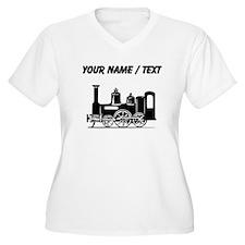 Custom Locomotive Plus Size T-Shirt